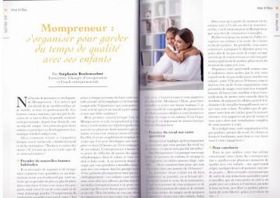 """Article : """"Mompreneur : s'organiser pour garder du temps de qualité avec ses enfants"""" - Ahly Magazine, janvier 2016"""