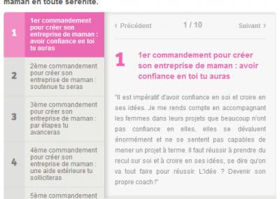 Interview sur les 10 commandements pour créer son entreprise lorsque l'on est mère de famille - Magic Maman, août 2015